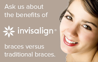 Ask us about the benefits of braces vs traditional braces - Invisalign